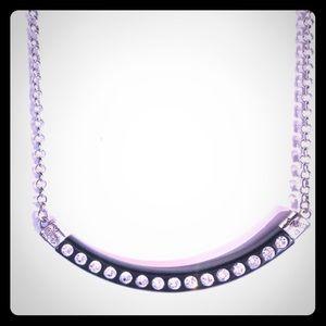 Brighton black necklace with rhinestones